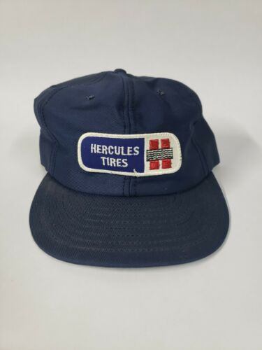 Vintage Hercules Tires Patch Snap Back Hat, Made in U.S.A.