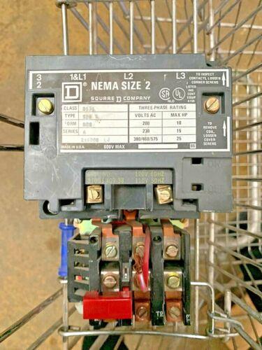 Square D Nema Size 2 216088 LJ Contactor