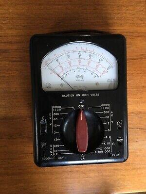 Vintage Triplett Model 630 Test Leads Volt - Ohm - Milliammeter