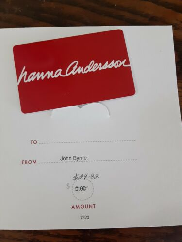 Hanna Andersson Gift Card 24.82 Value  - $15.00