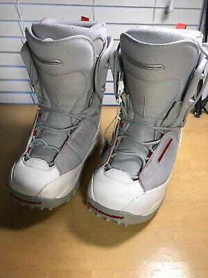 WOMENS GIRLS SALOMON VIGIL THERMIC FIT WHITE GRAY SNOWBOARD BOOTS SZ 7