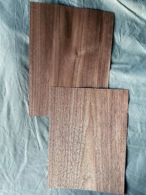 American Walnut Veneer Rawunbacked - 2 Sheets 11.25 X 8.5.
