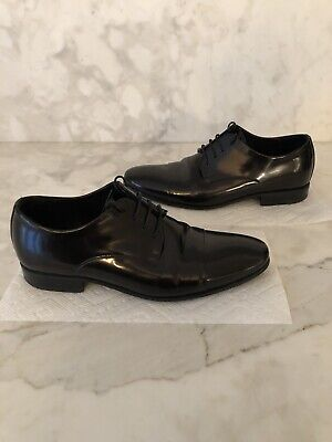 PETE SORENSEN $695 black lace-up shoe~size 37~ Made to Measure Couture ITALY