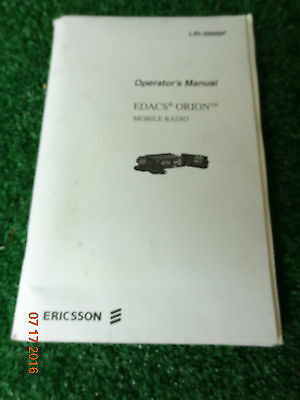 Ge Ericsson Orion Vhf Uhf Edacs Mobile Radio Operators Manual Lbi-38888f