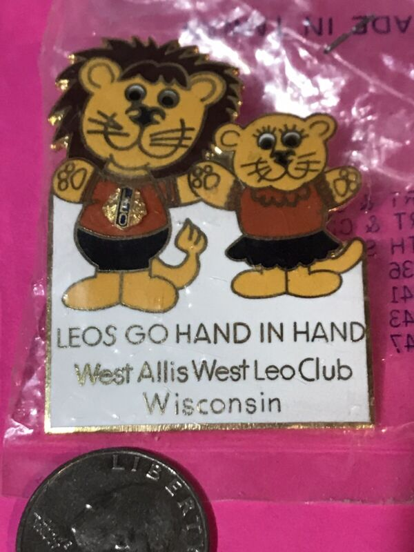 WEST ALLIS WEST WISCONSIN LEOS HAND IN HAND LIONS CLUB INTERNATIONAL PIN MD-27