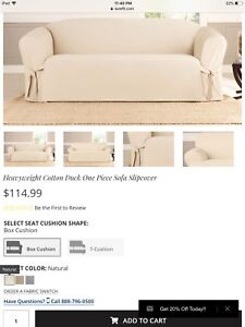 Pure bright white Sure fit couch cover(Still Available)
