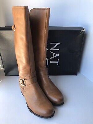 Naturalizer Jillian Banana Bread Woman's Leather KneeHigh Boots Size 9W MSRP$199