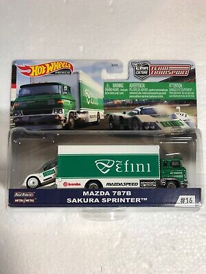 HOT WHEELS TEAM TRANSPORT MAZDA  787B SAKURA SPRINTER #16 NEW Free Shipping