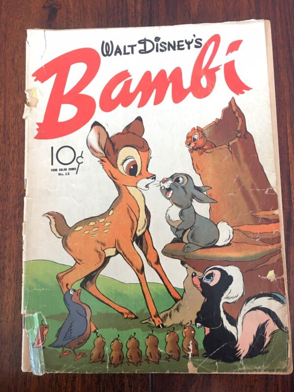 Very Vintage 1942 Disney Comic #12 BAMBI Dell Four Color Golden Age