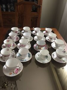 English bone china cups and saucers