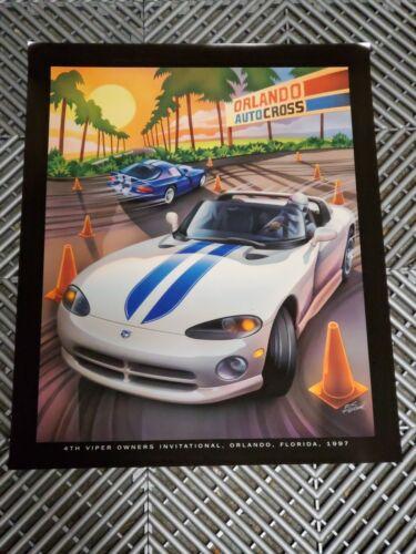 Dodge Viper RT10 GTS  Owners Invitational VOI Poster Original 17x13 Orlando