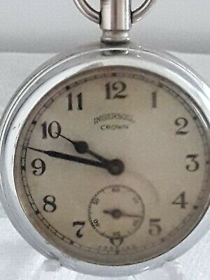 Lovely Vintage Ingersoll Crown Pocket Watch Working