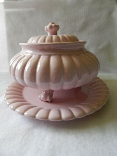 Italian Soup Tureen w/ Lid and Underplate--Broken Ladle Included
