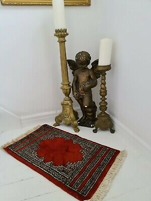 Small Handwoven Wool Rug Imported From France.Handwoven Traditional Wool Rug...