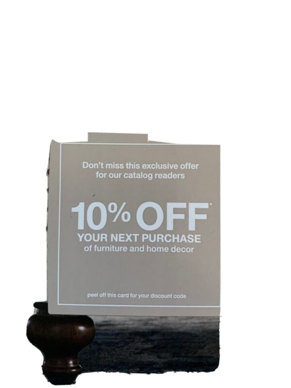 Home Depot 10% off home Decour and furniture expires 10/31