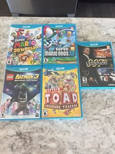 5 Mint Condition Wii-U Games