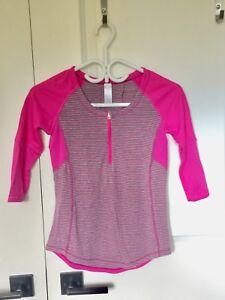 Ivivva LS top. Pink and grey, sz 10