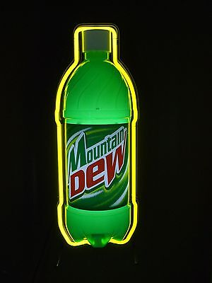 MOUNTAIN DEW NEON BAR SIGN MAN CAVE MNT. MT. LIGHT NEW CONDITION