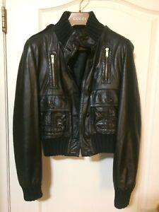 Women leather jacket -GUCCI