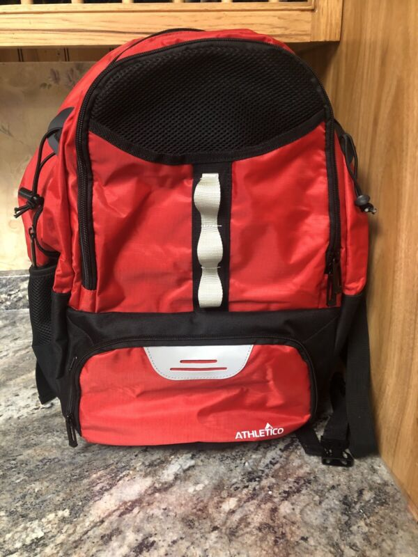 New Athletico Lacrosse Equipment Backpack Red