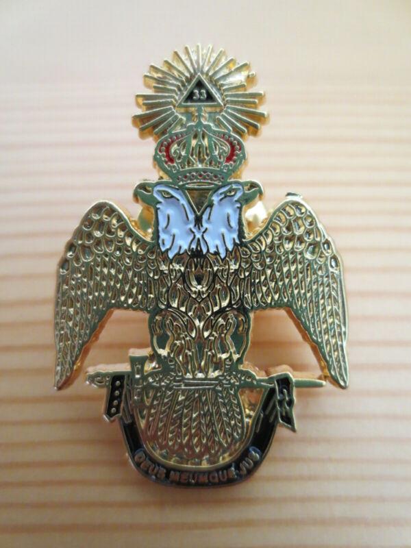 Masonic Lapel Pins Badge Mason Freemason B48 Ancient & Accepted Scottish Rite 33