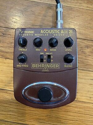 BEHRINGER V-TONE ACOUSTIC DRIVER DI Ultra-musical 3-band EQ Barely used