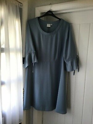Junarose @ Simply Be Ladies soft blue dress fit & flare plus size 24