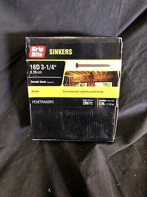 Grip Rite 16ctdskr5 5 Lb 3-14 Coated Smooth Shank Sinker Nail 286 Pcs