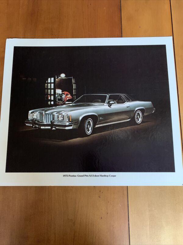 1975 Pontiac Grand Prix SJ Dealership Sign Poster Car VTG Advertising 20.5x17.5