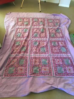 Elephant and flower throw rug