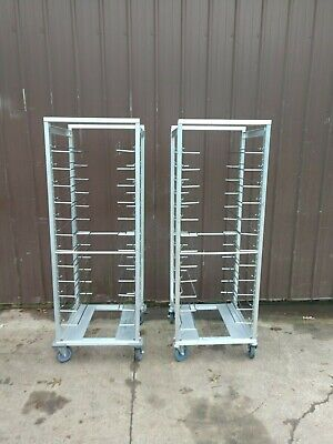 2 NEW CRES COR TRANSPORT FOOD CATERING STORAGE RACK UNIVERSAL ANGLE 207 UA 13 -