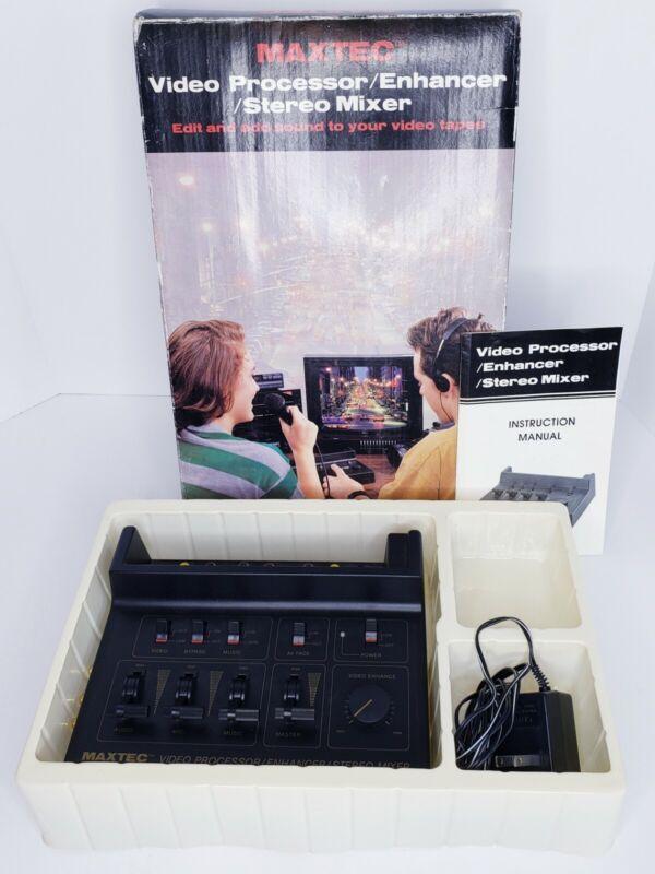 Maxtec Video Processor Enhancer Stereo Mixer