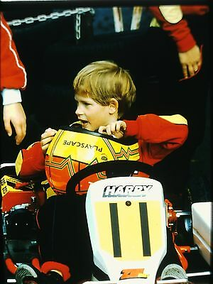 Prince Harry In A Go Kart   Original 35Mm Color Slide   1988