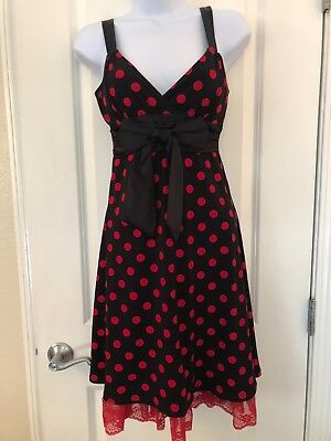 City Triangles Red Polka Dot Tulle Dress Rockabilly 50s Small