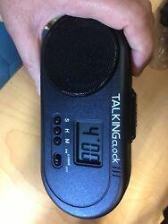 TALKING SPANISH HUMAN VOICE SPEAKING Battery Power Snooze Alarm Clock VERY LOUD