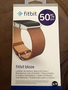 Fitbit Blaze Leather Accessory Band and Frame