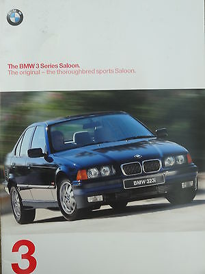 BMW 3 Series Saloon Mark 2 Sales brochure Pub 1997