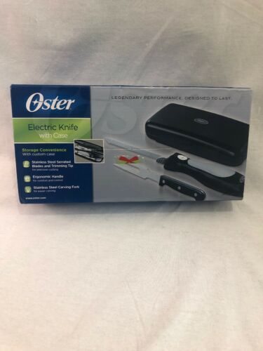 Oster 12 in. Stainless Steel Electric Knife Slicer and Carvi