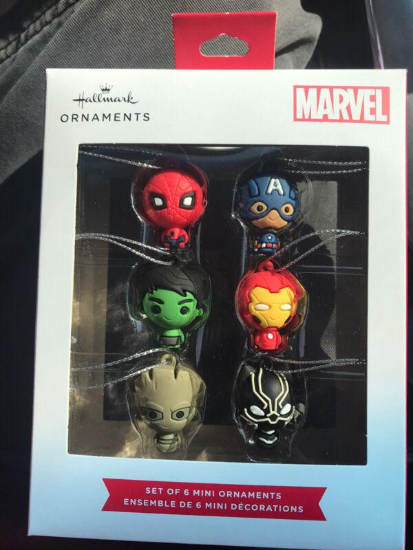 2021 Hallmark Marvel Set of 6 Mini Ornaments