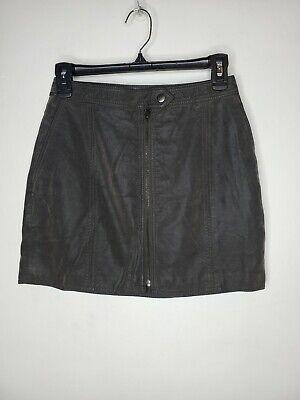 Free people vegan leather gray skirt size 0