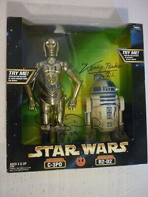 "Star Wars Kenner 12"" Electronic C-3PO R2-D2 Signed Anthony Daniels Kenny Baker"