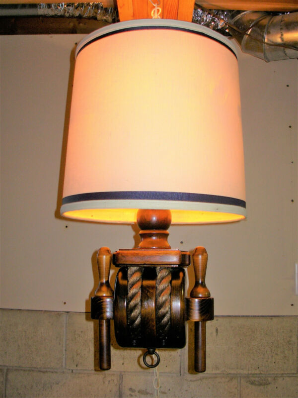 Vintage Milford Guild Nautical Swag Ceiling Lamp