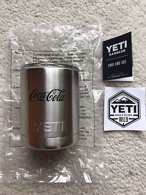 GENUINE YETI RAMBLER LOWBALL 10OZ TUMBLER COCA COLA BRANDED LIMITED EDITION