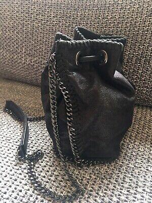 Stella McCartney Black Mettalic Shoulder Tote Bag + Stella McCartney Blouse L