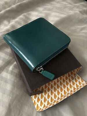 il bussetto square zip wallet in poseidon blue BRAND NEW