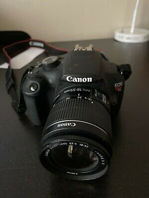 Canon EOS Rebel T5 DSLR Camera With EF 18-55 mm lens and bag. Good condition.
