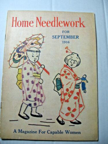 September 1916 Home Needlework Magazine
