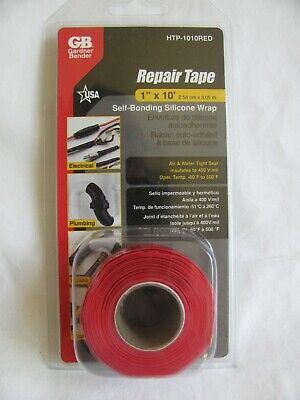 Gardner Bender Htp-1010 Repair Tape All Purpose Silicone Self-sealing 1 X 10