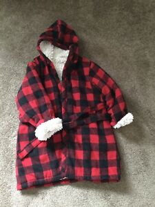 Size 4/5 Buffalo Check Bath Robe / House Coat