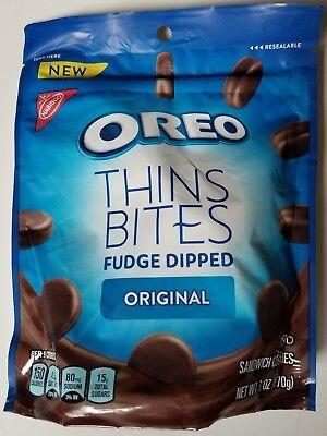 Fudge Bites - NEW Nabisco Oreo Fudge Dipped Thins Bites Original Flavor Free World Shipping